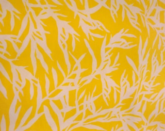 Tablecloth yellow white leaves Floral modern Scandinavian Design , napkins , table runner , curtains napkins , great GIFT