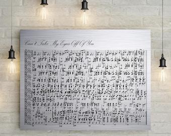 Iron anniversary custom music sheet th wedding anniversary