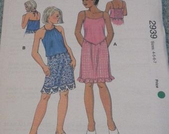 Kwik Sew 2939 Girls Tops and Skirts 4-7