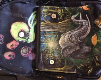 My art on a Calvin Klein bag pack