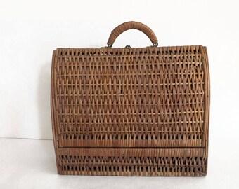 Vintage rattan - Antique rattan bag purse