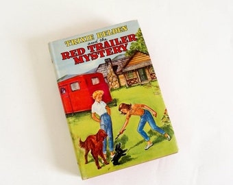SALE Trixie Belden and the Red Trailer Mystery by Julie Campbell 1950 HCDj VGC, Vintage 1950s Childrens Chapter Book