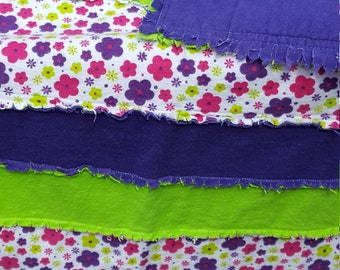 Flannel quilt, flannel rag quilt, lime green and purple quilt, girl quilt, toddler blanket, baby blanket, girl blanket