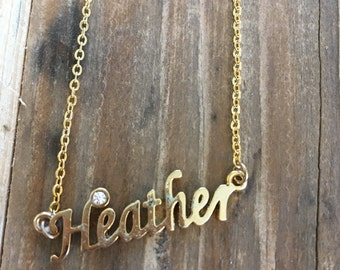 Heather Necklace in Gold or Silver