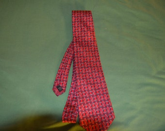 ON SALE  Vintage Bert  Pulitzer Tie in Red for Lord and Taylor
