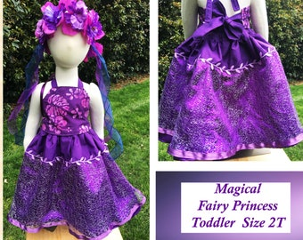 2T Gorgeous Fairy Dress - Delight Her with a Stunning, Magical, Woodland Fairy Costume - Comes with Flowing Fairy Hair Wreath - Toddler Girl