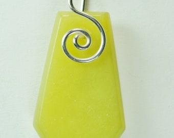 Healerite™ spiral wire wrapped Pendant #519