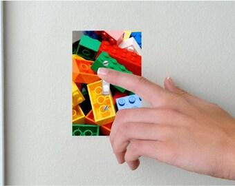Lego- Lightswitch Cover- Lego Blocks Room Decor