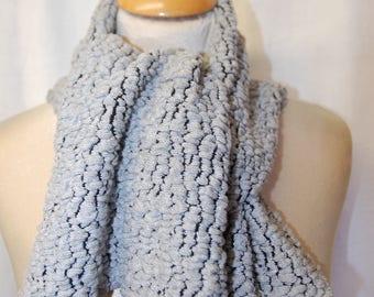 Embossed woolen scarf