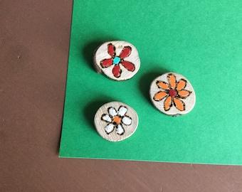 Magnet, flower magnet, Fridge Magnet, magnet Board, magnet magnet wood slice of wood
