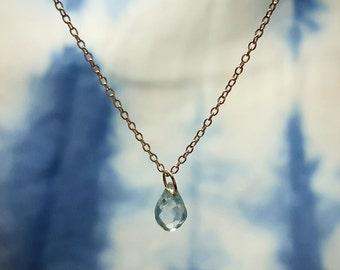 Blue Aquamarine Necklace Aquamarine Necklaces March Birthstone Necklace Aquamarine Jewelry Aquamarine Pendant Necklace Womens Gift for Her