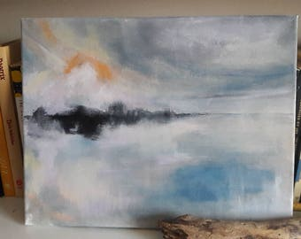 Misty Waters acrylic painting