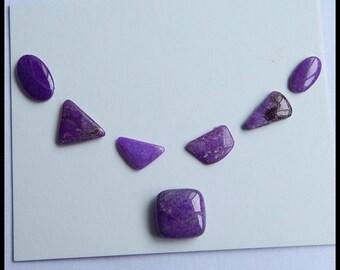 7 PCS Sugilite Gemstone Cabochon Beads,1.95g (Cb075)