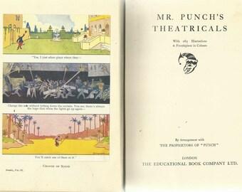 vintage 1935  Mr Punchs Theatricals (Volume 9)  British Humour Satire