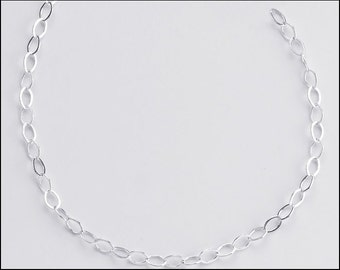 2.3mm Flat Cable Chain for SilverTrove Necklaces Sterling Silver