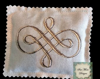 Dried Handmade Lavender Sachets ~ Embroidery Design ~ Organic Lavender Flowers