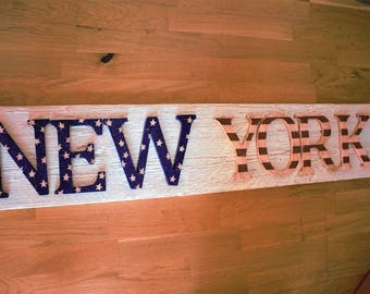 Wooden letters, wall decoration