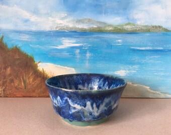 Ceramic Bowl/ Pasta Dish / Ceramic Fruit  Bowl/ Summer Salad Bowl/ Salad Server / Summer Fruits Bowl/ Blue Wave Collection