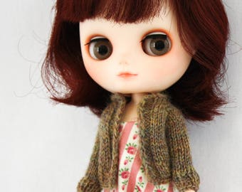 Middie Blythe doll Clover Sweater knitting PATTERN - cardigan long sleeve sweater - instant download - permission to sell finished items