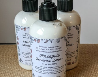 Beeswax Hand & Body Lotion 8 oz.
