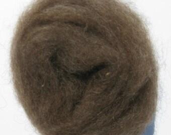 Brown  Shetland Sheep Roving, Spinning Fiber, Felting Fiber, 2 ounces