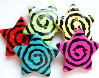 Button Rock Stars handmade polymer clay buttons ( 5 )