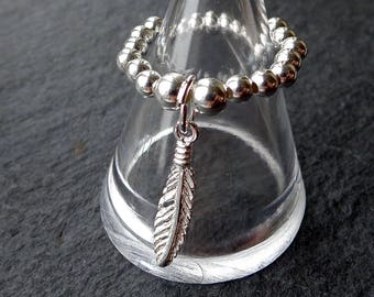 Feather stretch and stack 925 Sterling Silver Ring