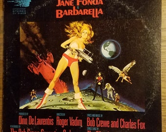 BARBARELLA  Rare Soundtrack LP Bob Crew Jane Fonda SiFI Science Fiction Movie Vintage Vinyl Record