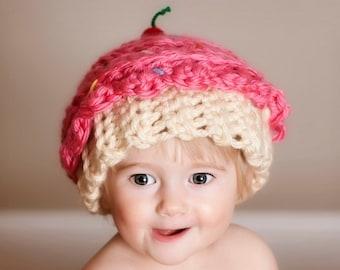 Cupcake crochetés à chapeau