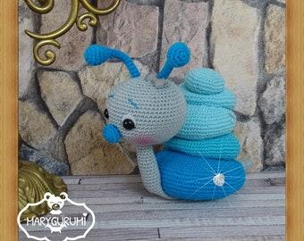 Snail stuffed crocheted Amigurumi (large model)