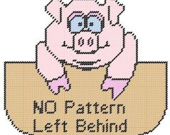 Piggie Plastic Canvas Pattern