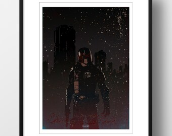 Dredd Movie Art Print