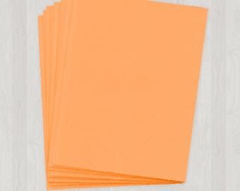 100 Sheets of Cover Stock - Orange - DIY Invitations - Paper for Weddings & Other Events
