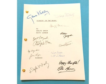 Singin' In the Rain Singing Singin Signed Movie Script Gene Kelly, Donald O'Connor, Debbie Reynolds Classic