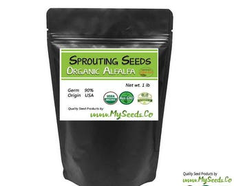 Sprouting Seeds, Organic Sprouting Alfalfa Seeds , Highest quality sprouts, High germination rate