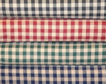 Large Check Homespun Fabric Fat Quarter Bundle Of 4
