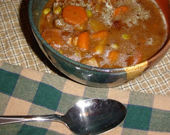 Back Creek Pottery Hardy Beef Stew - DIY Recipe - pdf Download, Beef Stew with Vegetables, Vegetable Beef Stew Recipe, Beef Stew