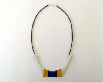 Necklace Resin-Resin Statement Necklace-Resin Bib Necklace-Resin Jewellery-Geometric Resin Necklace-Contemporary Jewelry Modern Jewelry
