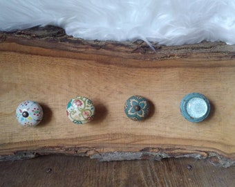 Live edge mismatched knobs hanger, hickory wood, mismatched knobs, handmade item, jewelery hanger, scarf hanger, wood, rustic, gift, sawmill
