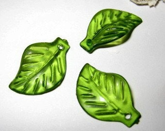24 pcs 19mm - FROSTED leaf bead / charm(LE011-B)