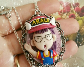 Arale norimaki necklace Made in fimo clay doctor slump anime japan manga gift for fan arale lovers jewels