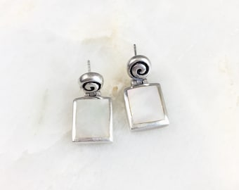 Vintage Sterling Mother of Pearl Earrings