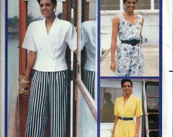 Misses Top & Pants Pattern, Butterick 3935 Essence Collection, Size 12-14-16 UNCUT