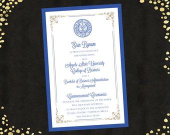College Graduation Invitations Announcements Bachelor's Degree Layered Announcements Graduation Announcements Qty. 25