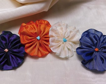 Pile Of Pansies Set Of Four Solid Colors