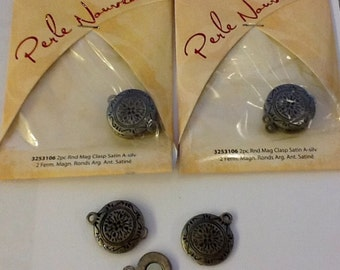 Metal Jewelry Magnetic Clasp, 2 to. Pkg. 3 packages Total 6 clasps