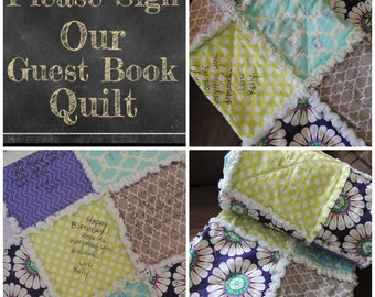 Party Gift, Quilt Kit, Sign or Draw, Speical Event, Signature, Forever Memory, FAST Shipping, Personalized