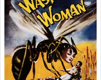 The Wasp Woman Movie Poster Susan Cabot 1959 24x36 Vintage Horror