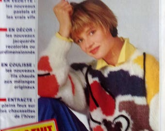Catalogue No. 123 PHILDAR French KNITTING - 35 patterns for men and women