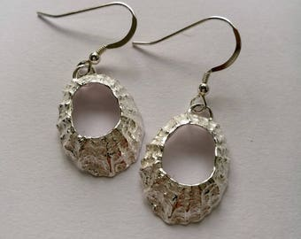 Prussia Cove Sterling Silver Limpet Drop Earrings